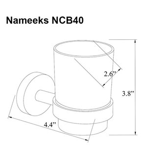 Nameeks General Hotel Wall Mounted Toothbrush Holder In Chrome
