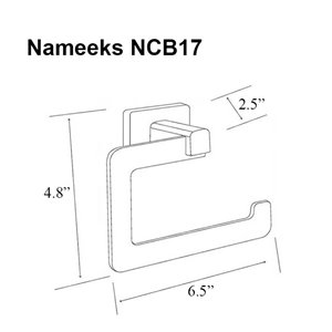 Nameeks General Hotel Wall Mounted Toilet Paper Holder In Chrome - 2.5-in x 4.75-in x 6.5-in