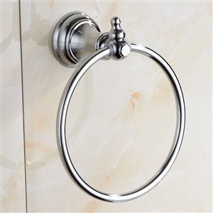 Nameeks Classic Hotel Wall Mounted Towel Rings in Chrome