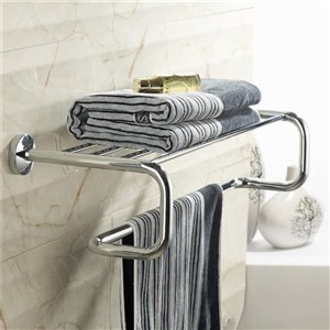 Nameeks General Hotel Wall Mounted Train Racks for Towels in Chrome - 24.25-in x 9.75-in