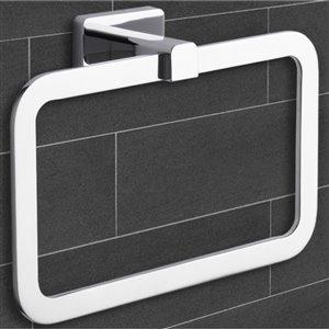 Nameeks General Hotel Wall Mounted Towel Rings in Chrome