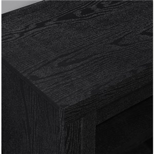 Ameriwood Home Bailey TV Stand for TVs up to 72-in - 71.5-in x 16.56-in x 22.31-in - Black Oak