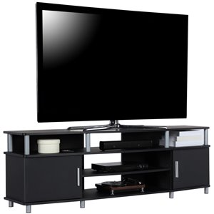 Ameriwood Home Carson TV Stand for TVs up to 70-in - 63-in x 15.75-in x 20.5-in - Black