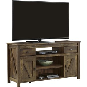 Ameriwood Home Farmington TV Stand for TVs up to 60-in - 59.63-in x 19.69-in x 32-in - Rustic