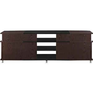 Ameriwood Home Carson TV Stand for TVs up to 70-in - 63-in x 15.35-in x 20.5-in - Cherry