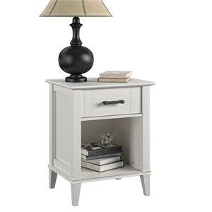 Novogratz Hazelridge Nightstand - 24.49-in - Wood - White