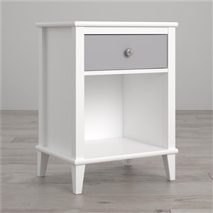Little Seeds Monarch Hill Poppy Nightstand - 26.81-in Wood - Gray