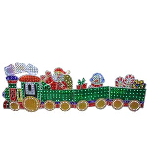 Northlight 4-Piece Holographic LED Lighted Motion Train Set Outdoor Decoration