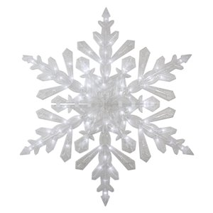 Northlight LED Lighted Twinkling Cool Snowflake Outdoor Decoration - 47-in - White