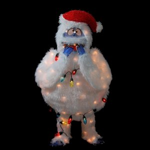 Northlight Pre-Lit Bumble Christmas Outdoor Decoration - Multi Lights - 49-in