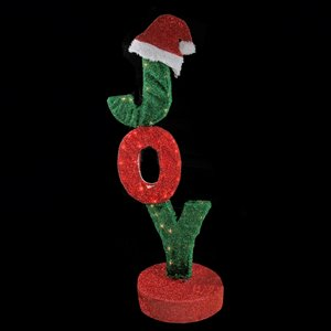Northlight Rotating Lighted Joy Sign Outdoor Decor - 43.5-in - Red and Green