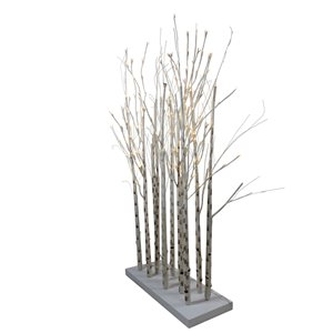 Northlight LED Lighted Twig Tree Cluster Outdoor Yard Art Decoration - 4-ft - White