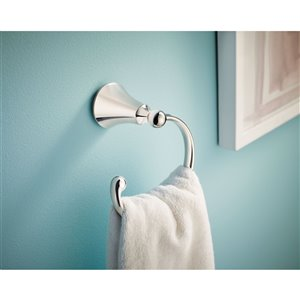 Moen Wynford Towel Ring - Polished Nickel