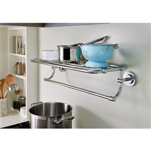 Moen Iso Towel Shelf with 6 Towel Bars - 5.5-in - Chrome