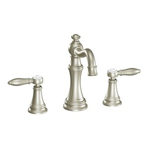 Moen Weymouth Two-Handle Faucet - Brushed Nickel (Valve Sold Separately)