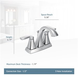 Moen Voss Two-Handle Faucet - Polished Nickel