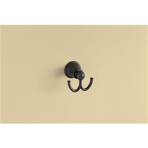 Moen Kingsley Wrought Double Robe Hook - Iron