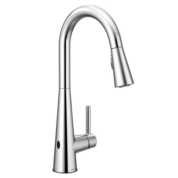 Moen Sleek Pulldown Kitchen Faucet Chrome Lowe S Canada