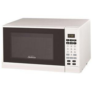Sunbeam 0.9 cu. Ft. 900 watts Counterop Microwave (White)