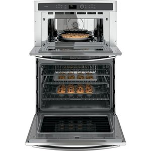 GE Self-cleaning and steam cleaning Convection Microwave Wall Oven Combo (Stainless steel) (Common: 30 -in; Actual: 29.75-in)
