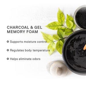 "Signature Sleep Flex 8"" Charcoal Gel Memory Foam"
