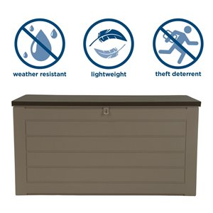 Cosco Outdoor Deck Storage Garden Box, Extra Large, Tan