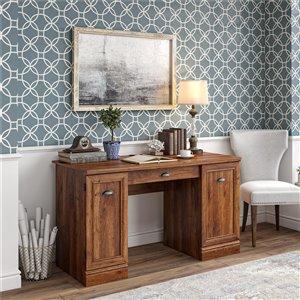 Delaney Double Pedestal Desk, Cherry Oak