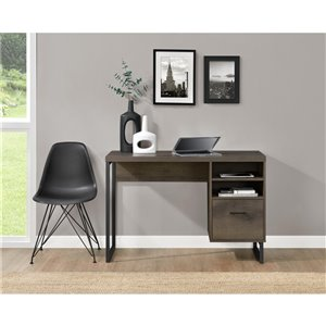 Candon Desk, Medium Brown