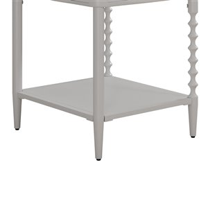 DHP Jenny Lind Nightstand - 18-in x 16.5-in - White