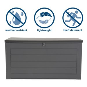 Cosco Outdoor Deck Storage Garden Box, Extra Large, Gray