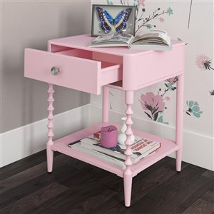 DHP enny Lind Nightstand - 18-in x 16.5-in - Pink