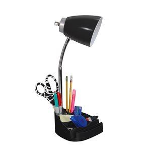 LimeLights Gooseneck Organizer Desk Lamp with  USB port - 18.5-in