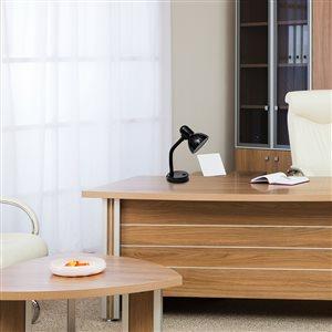 Simple Designs Basic Metal Desk Lamp with Flexible Hose Neck - Black - 13.85-in