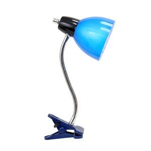 LimeLights Adjustable Clip Lamp Light Blue - 12-in