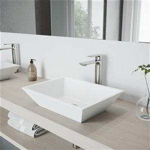 VIGO Norfolk Vessel Bathroom Faucet In Brushed Nickel