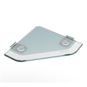 MAAX Utile Corner Shower Kit - Center Drain - 48-in x 32-in x 84-in - Origin Arctik - Brushed Nickel