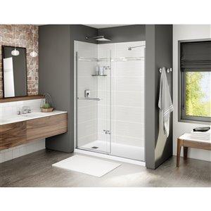 MAAX Utile Alcove Shower - Left Drain - 60-in x 32-in x 84-in - Origin Arctik