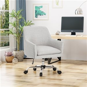 Best Selling Home Décor Johnson Contemporary Fabric Task Office Chair, Beige (Set of 1)