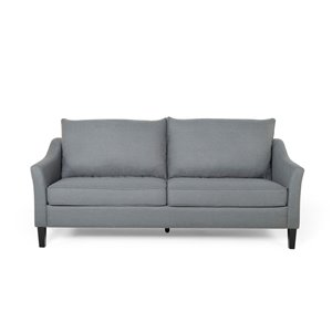 Best Selling Home Décor Almeda Contemporary Fabric  3 seater  Sofa, Charcoal and Dark Brown Sofa