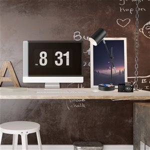 Globe Electric Tech Series 18 in. Matte Black Wireless Charging Balance Arm Desk Lamp