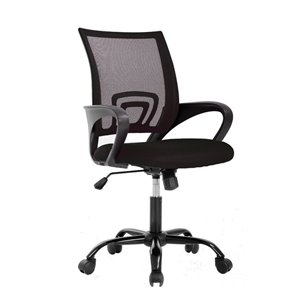 TygerClaw Mid Back Mesh Office Chair - Black