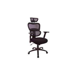 TygerClaw High Back Mesh Office Chair - Black