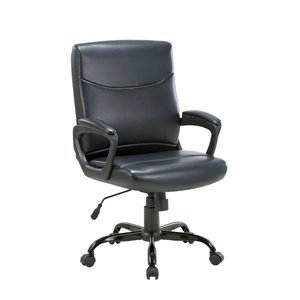 TygerClaw Mid Back Manager Office Chair - Black