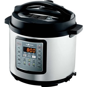 Ecohouzng Stainless Steel Electric Pressure Cooker - 13.7-in - Black/Stainless Steel