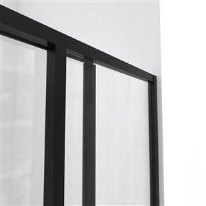 DreamLine Cornerview 36-in D x 36-in W x 74-3/4-in H Framed Sliding Shower Enclosure and SlimLine Shower Base Kit