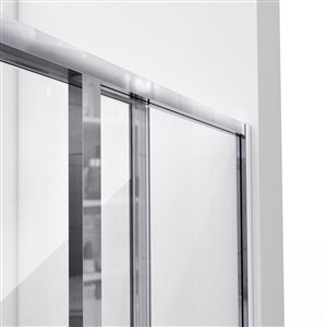 DreamLine Cornerview 36-in D x 36-in W x 76-3/4-in H Framed Sliding Shower Enclosure, Shower Base and QWALL-4 Acrylic Backwall Kit