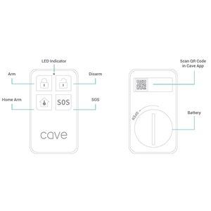 Veho Cave Wireless Smart Home Plastic Remote Control