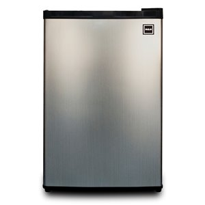 RCA 4.5 cu ft Freestanding Compact Fridge with Freezer Compartment - Stainless Steel