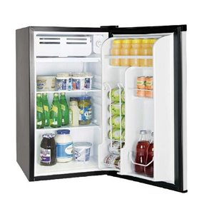 RCA 3.2 cu ft Freestanding Compact Mini Fridge with Freezer Compartment - Black