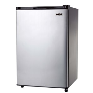 RCA 3.2 cu ft Freestanding Mini Fridge with Freezer Compartment - Stainless Steel
